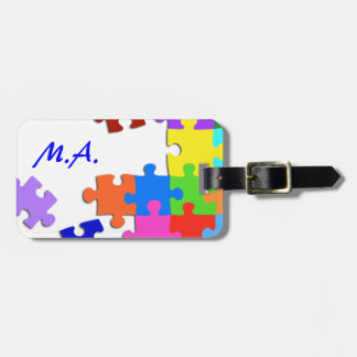 Puzzled Luggage Tags