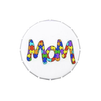 Puzzled Mom Jelly Belly Tin