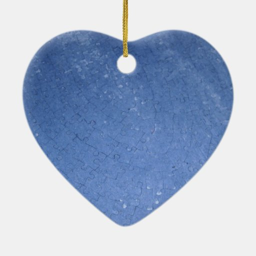 Puzzled Double-Sided Heart Ceramic Christmas Ornament