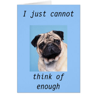 """""""PUZZLED PUG THANK YOU CARD"""" CARD"""