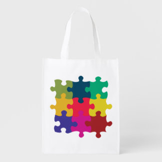 Puzzled Reusable Grocery Bag