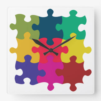 Puzzled Square Wall Clock