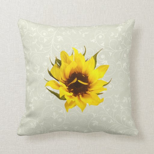 Puzzled Sunflower Throw Pillows