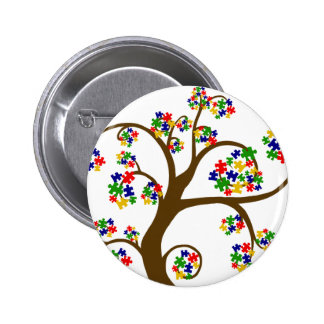 Puzzled Tree of Life 2 Inch Round Button