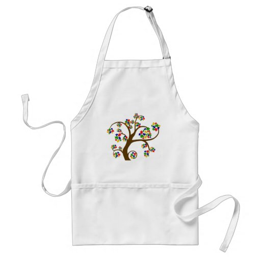 Puzzled Tree of Life Adult Apron