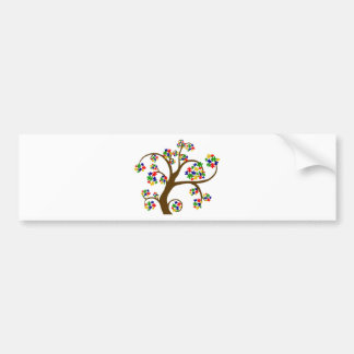 Puzzled Tree of Life Car Bumper Sticker