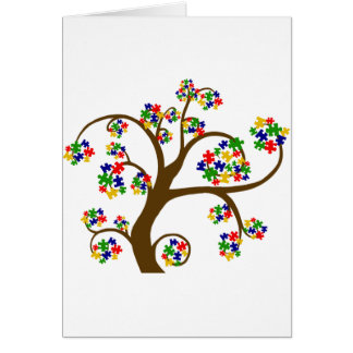 Puzzled Tree of Life Greeting Cards
