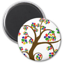 Puzzled Tree of Life Magnet