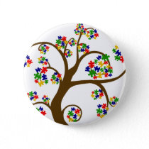 Puzzled Tree of Life Pinback Button