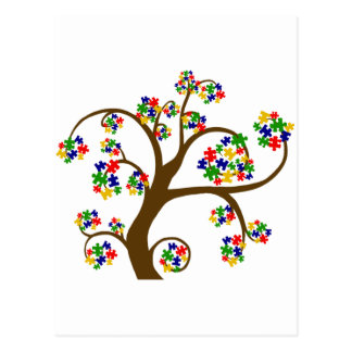 Puzzled Tree of Life Postcard