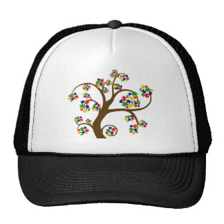 Puzzled Tree of Life Trucker Hat
