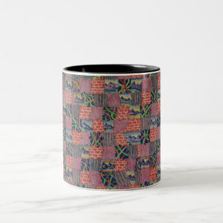 Puzzled Two Togetherness Two-Tone Coffee Mug