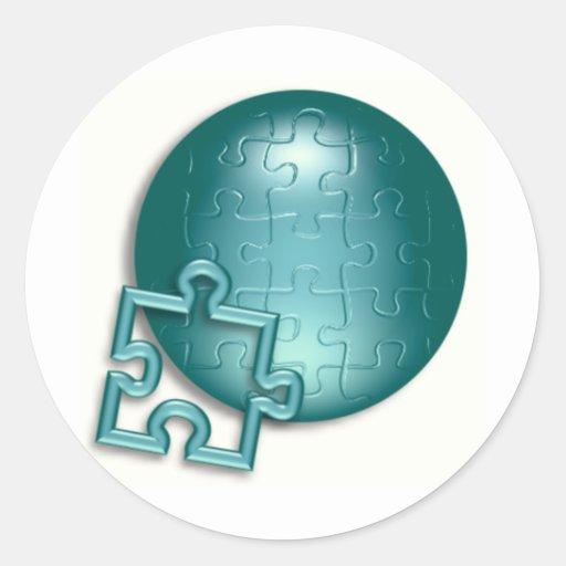Puzzled World Sticker