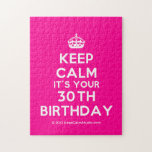 [Crown] keep calm it's your 30th birthday  Puzzles