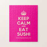 [Crown] keep calm and eat sushi  Puzzles