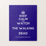 [Crown] keep calm and watch the walking dead  Puzzles