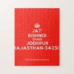 [Crown] jat' bishnoi chadi jodhpur rajasthan-342312  Puzzles