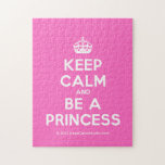 [Crown] keep calm and be a princess  Puzzles