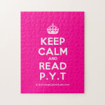 [Crown] keep calm and read p.y.t  Puzzles