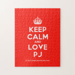 [Crown] keep calm and love pj  Puzzles