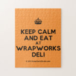 [Crown] keep calm and eat at wrapworks deli  Puzzles