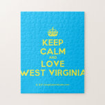 [Crown] keep calm and love west virginia  Puzzles