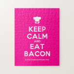 [Chef hat] keep calm and eat bacon  Puzzles