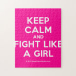 keep calm and fight like a girl  Puzzles