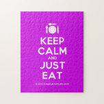 [Cutlery and plate] keep calm and just eat  Puzzles