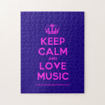 [Dancing crown] keep calm and love music  Puzzles