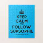 [Crown] keep calm and follow supsophie  Puzzles