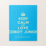 [Crown] keep calm and love coboy junior  Puzzles