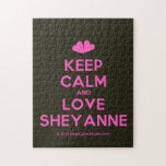 [Two hearts] keep calm and love sheyanne  Puzzles
