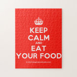 [Crown] keep calm and eat your food  Puzzles