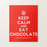 [Cupcake] keep calm and eat chocolate  Puzzles