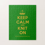 [Knitting crown] keep calm and knit on  Puzzles