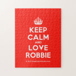 [Crown] keep calm and love robbie  Puzzles