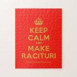 [Crown] keep calm and make racituri  Puzzles