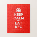 [Cutlery and plate] keep calm and eat kfc  Puzzles