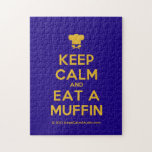 [Chef hat] keep calm and eat a muffin  Puzzles