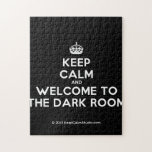 [Crown] keep calm and welcome to the dark room  Puzzles