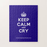 [Crown] keep calm and cry  Puzzles