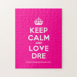 [Crown] keep calm and love dre  Puzzles