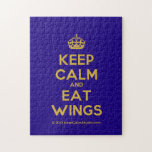 [Crown] keep calm and eat wings  Puzzles