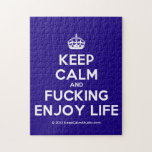 [Crown] keep calm and fucking enjoy life  Puzzles
