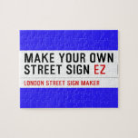 make your own street sign  Puzzles