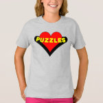 Puzzles Over Heart T-Shirt