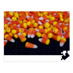 Puzzling Candy Corn Postcard