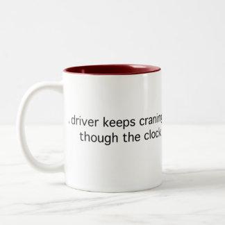 Puzzling Driver Two-Tone Coffee Mug