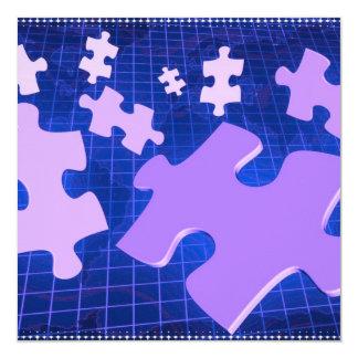 """Puzzling Invitations 5.25"""" Square Invitation Card"""